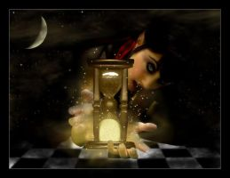 Sand Clock by My-Black-WidoW