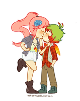 smoochin by scarlettwing