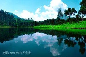 corner of cisanti lake..., by adjieguswara-art
