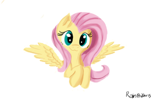 Fluttershy (First attempt at digital painting) by Rainb0wDashie