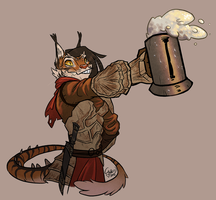 Commission: Khajiitgonian rogue by GalooGameLady