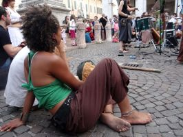 Barefoot Busker Girl by Groucho91