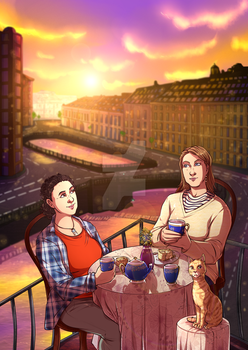 On the sunset by Miss-Alex-Aphey
