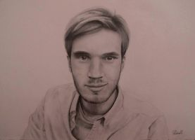 Pewdiepie Pencil Drawing by SasaSahara