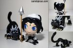 Chibi French Maid Nidalee and Cougar by samdejesus