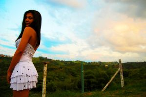 latina model - blue sky 2 by n3crofago