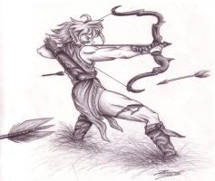Elven Archer by TresMaxwell