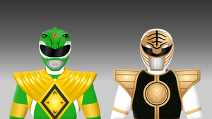 Green and White Power Ranger by Yurtigo