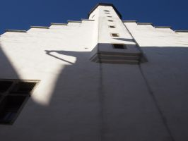 Tallin - Old City building -white wall by ddmkro