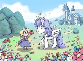 Little Princess and the Unicorn by pencil-cute
