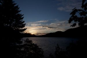 Sunset, Lake Crescent by Dustspots