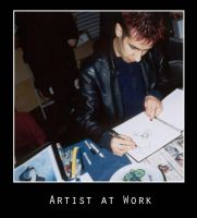 Artist At Work : Jhonen V by photomars