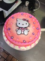 Hello Kitty cake by Crosseyed-Cupcake