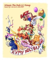 Pooh's Holiday Party by aun61