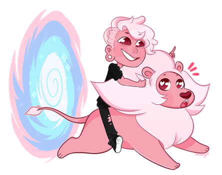 SU: Lars and Lion Sticker by sariasong64