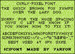 Curly - Pixel font by yarjor