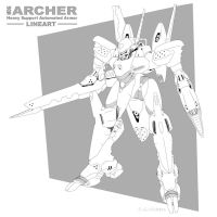 MDG Archer Lineart by CGVickers