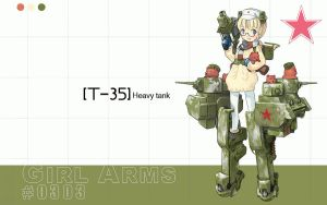 GirlArms T-35 Tank Wall Wide by HaMsTeYr