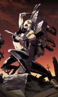 X-23 vs Shadowcat by kevinTUT