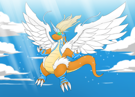 Mega Dragonite by Littlecutter