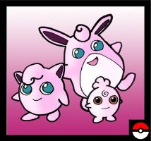 Jigglypuff Family by ZappaZee