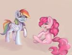 Rd and Pinkie by Salatopony
