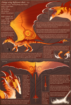 Orange wing Reference sheet by M4WiE