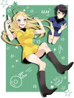 female!kirk and spock! by LESS39