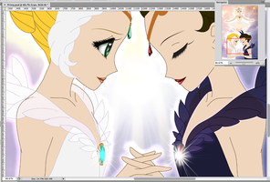 WIP: Light Embracing Darkness by ParlourTricks
