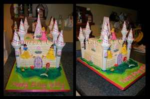 Disney Princess castle cake by mystiic143