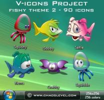 V icons - Fishy Theme 2 by Veinctor