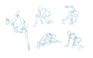 Pose Studies 1 - References from Mixamo by BBstudies