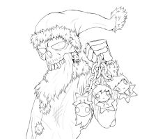 Zanta Claws - Lineart by FighterAmy
