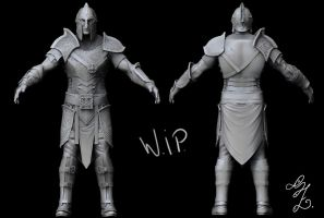 Warrior W.I.P by stefaniez