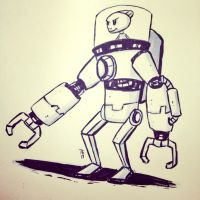 Inktober Day 1. Mech Suit by Yeti-Labs