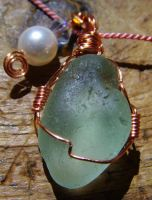'Nuther seaglass pendant by OdinsBeadHall