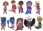 Jaybeesea Chibi Commission Set 02 by Burlew