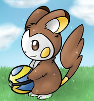 Snickers The Emolga by Fire-Girl872