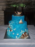 Beach Wedding Cake by sybillrose