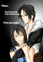 Squall and Rinoa by kevzter
