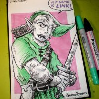 INKtober - Link by Cosmic-Rocket-Man