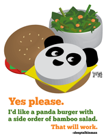 Panda Burgers by pinguino