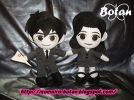 chibi George and Meg plush version by Momoiro-Botan