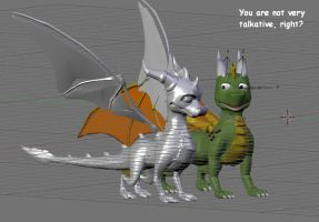 Alat and Spyro DotD model by AlatDragon