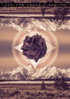 Dreamexplorediscover. Poster design low poly by EAJacobs