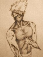 Hatake Kakashi wounded by Lord-Stardust