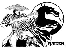 Raiden inks pin up by BrunoCotic