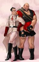 sexpot genderbend Heavy and Medic by yang