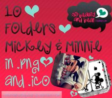 10 Folders Mickey/Minnie by SoBeautyAndBeat
