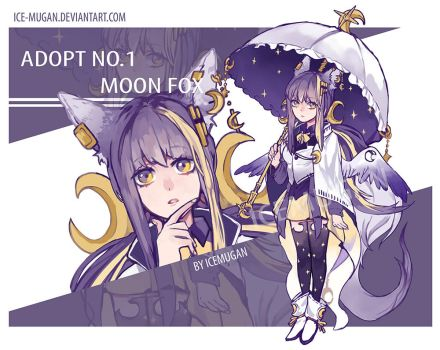 [CLOSE]Adopt 1# MOON FOX by Ice-mugan